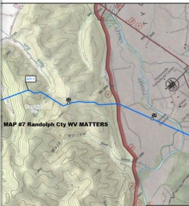 MAP #7 DOMINION Pipeline Route, Randolph Cty, WV