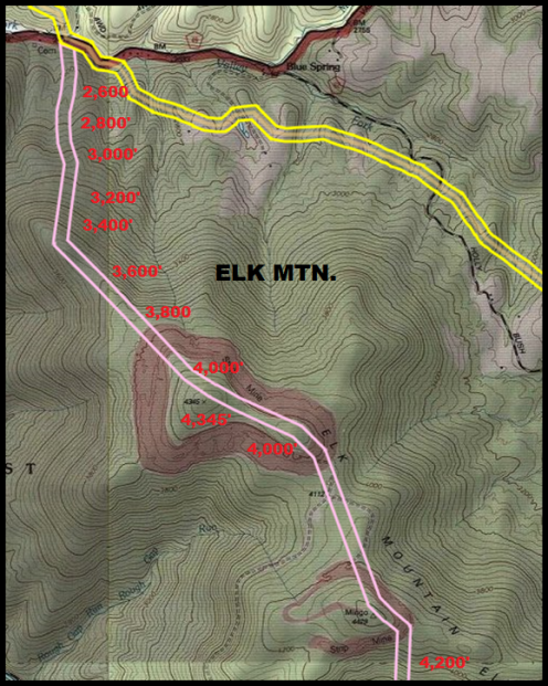 1BR Valley Fork to Elk Mtn